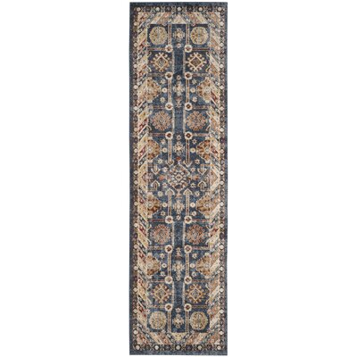 Isanotski Brown/Blue Area Rug Rug Size: Runner 23 x 8