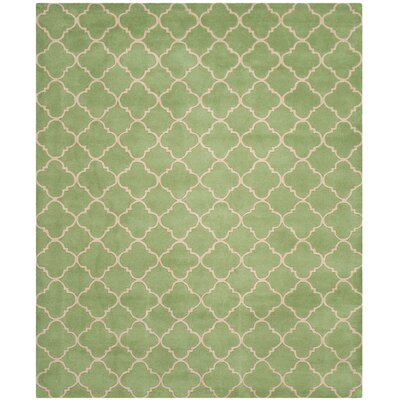 Petal Hand-Tufted Green Area Rug Rug Size: Rectangle 8 x 10
