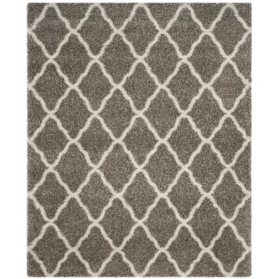 Buford Gray/Ivory Area Rug Rug Size: Rectangle 8 x 10