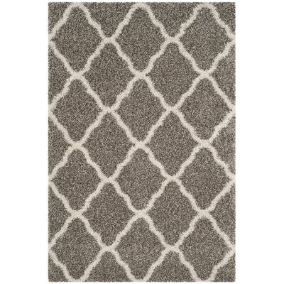 Buford Gray/Ivory Area Rug Rug Size: Rectangle 4 x 6