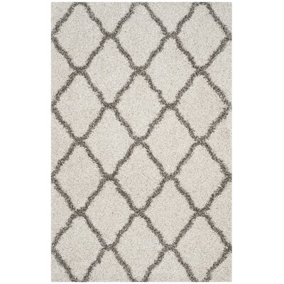Buford Ivory/Gray Area Rug Rug Size: Rectangle 51 x 76