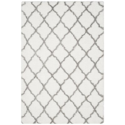 Brimfield Ivory/Gray Area Rug Rug Size: Rectangle 51 x 76
