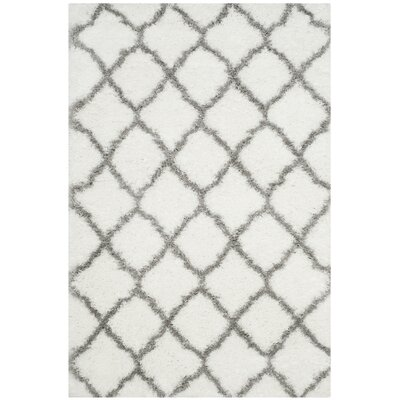 Brimfield Ivory/Gray Area Rug Rug Size: Rectangle 4 x 6