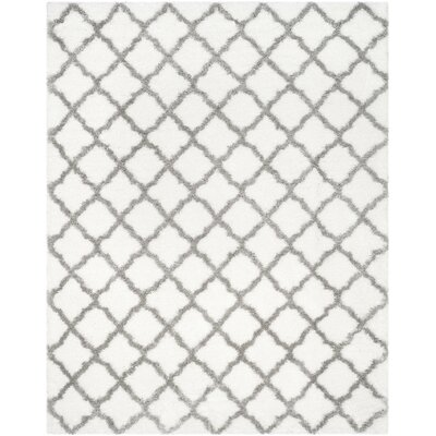 Brimfield Ivory/Gray Area Rug Rug Size: Rectangle 8 x 10