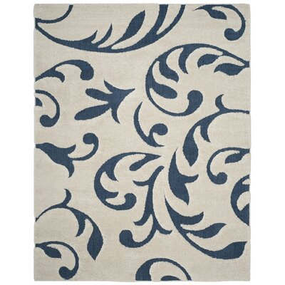Diederich Blue Indoor Area Rug Rug Size: Rectangle 8 x 10