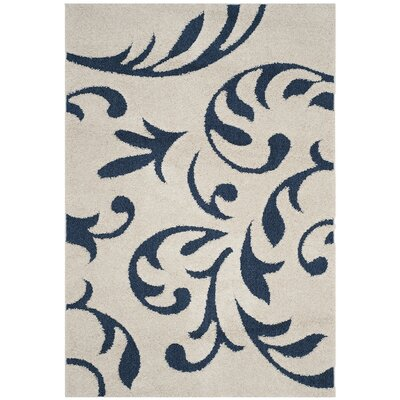 Diederich Blue Indoor Area Rug Rug Size: Rectangle 53 x 76