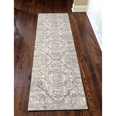 Norwood Bone Area Rug Rug Size: Runner 22 x 77