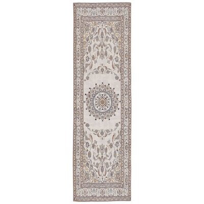 Astoria Nain White/Brown Area Rug Rug Size: Runner 22 x 76