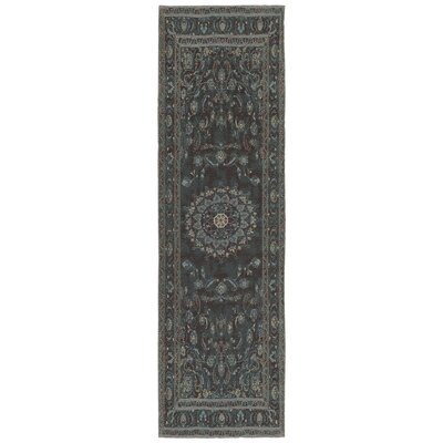 Astoria Nain Black/Blue Area Rug Rug Size: Runner 22 x 76