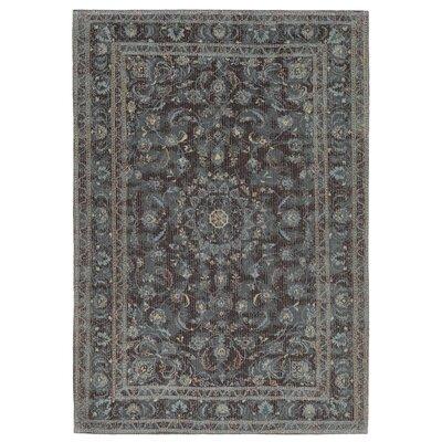 Astoria Nain Black/Blue Area Rug Rug Size: 33 x 48