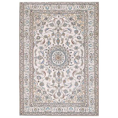 Astoria Nain White/Brown Area Rug Rug Size: 33 x 48