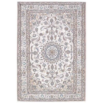 Astoria Nain White/Brown Area Rug Rug Size: 18 x 26