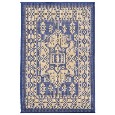 Brasstown Blue Indoor/Outdoor Area Rug Rug Size: Rectangle 111 x 211