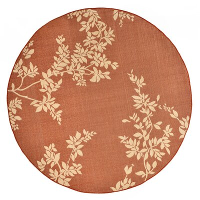 Aldreda Rust Indoor/Outdoor Area Rug