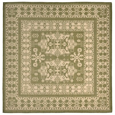 Brasstown Green Indoor/Outdoor Area Rug Rug Size: Square 710