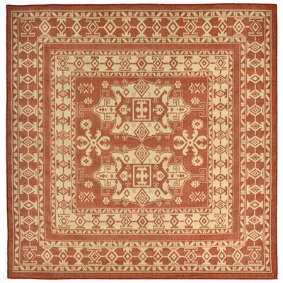 Brasstown Rust Indoor/Outdoor Area Rug Rug Size: Square 710