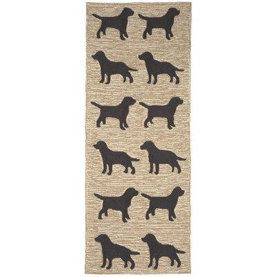 Allgood Doggies Natural Indoor/Outdoor Area Rug Rug Size: Runner 23 x 6