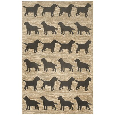 Allgood Doggies Natural Indoor/Outdoor Area Rug Rug Size: Rectangle 36 x 56