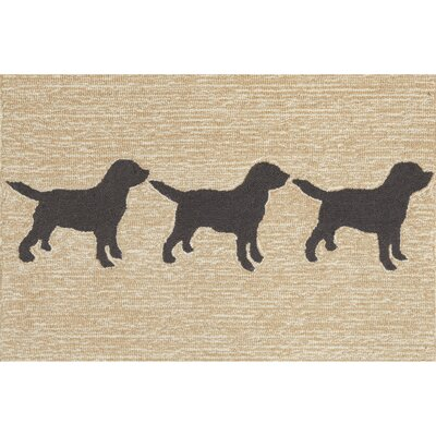 Allgood Doggies Natural Indoor/Outdoor Area Rug Rug Size: Rectangle 2 x 3