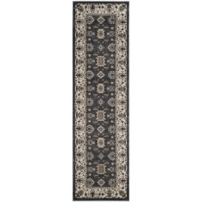 Fryar Gray/Cream Area Rug Rug Size: Runner 23 x 8