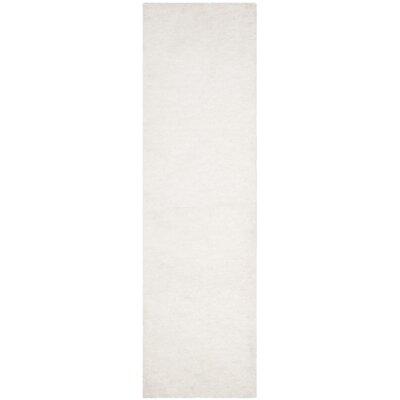 Detweiler Hand-Tufted White Area Rug Rug Size: Runner 23 x 8