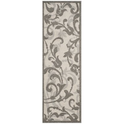 Neil Ivory/Gray Indoor/Outdoor Area Rug Rug Size: Runner 2'3