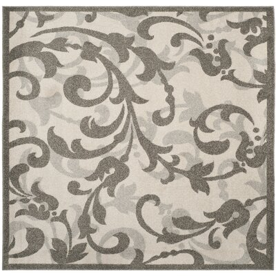 Neil Ivory/Gray Indoor/Outdoor Area Rug Rug Size: Square 7 x 7