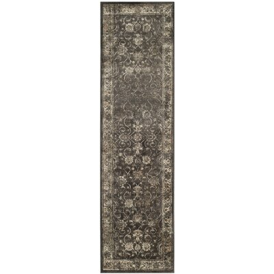 Rindge Soft Anthracite Area Rug Rug Size: Runner 22 x 8
