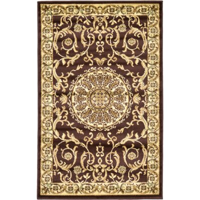 Oskar Brown Area Rug Rug Size: Round 6