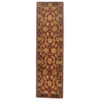 Cranmore Red Area Rug Rug Size: Runner 23 x 12