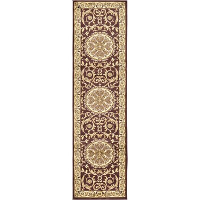 Oskar Brown Area Rug Rug Size: Runner 27 x 10