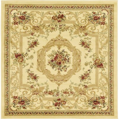 Crainville Beige Area Rug Rug Size: Square 4