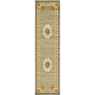 Oskar Light Blue Area Rug Rug Size: Runner 27 x 10
