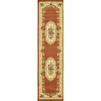 Oskar Brick Red Area Rug Rug Size: Runner 22 x 6