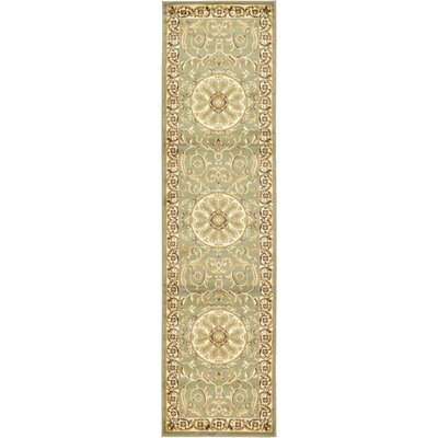 Oskar Light Green Area Rug Rug Size: Runner 22 x 6