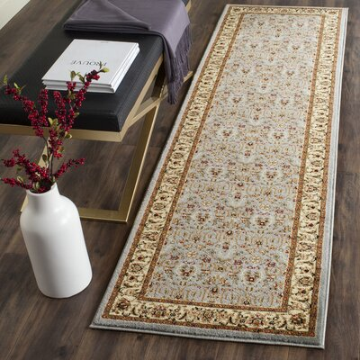 Ottis Light Blue/Ivory Area Rug Rug Size: Runner 23 x 13