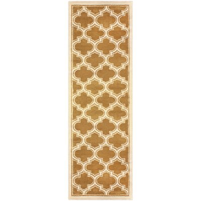 Stroudsburg Apricot Area Rug Rug Size: Runner 27 x 8