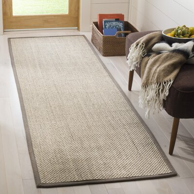 Monadnock Marble/Khaki Area Rug Rug Size: Runner 26 x 8