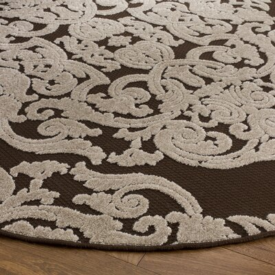Barnett Brown Indoor/Outdoor Area Rug Rug Size: Round 67 x 67