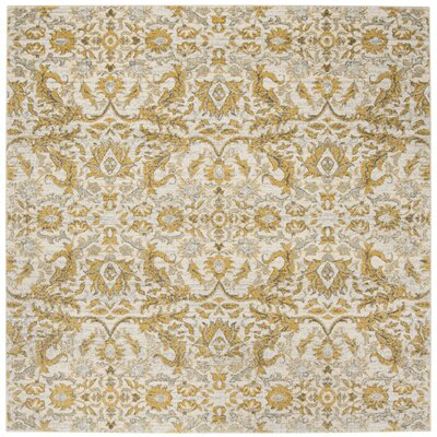 Sagebrush Ivory/Gold Area Rug Rug Size: Square 67