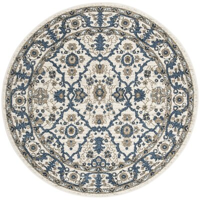 Buterbaugh Cream Area Rug Rug Size: Round 51