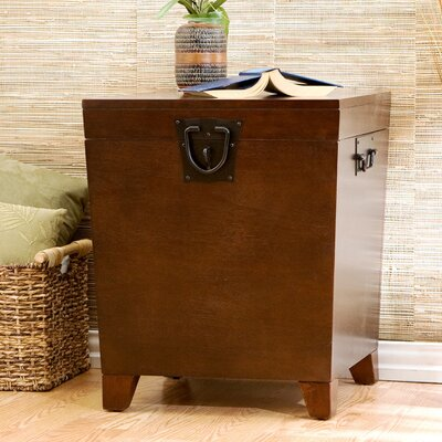 Boneta End Table With Storage Color: Espresso