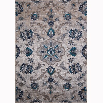 Tremont Cream/Blue Area Rug Rug Size: Rectangle 33 x 52