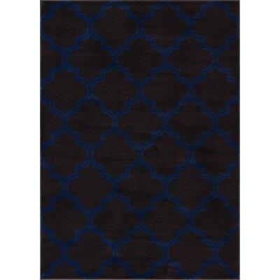 Abramowitz Charcoal Area Rug Rug Size: 53 x 73