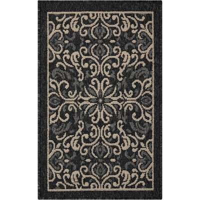 Ashby Charcoal Indoor/Outdoor Area Rug Rug Size: Rectangle 19 x 29