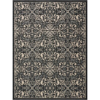 Ashby Charcoal Indoor/Outdoor Area Rug Rug Size: Rectangle 710 x 106