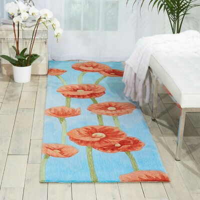 Malvina Hand-Tufted Blue Area Rug Rug Size: Runner 23 x 8