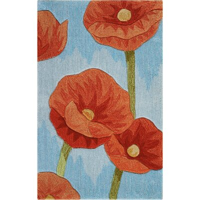 Malvina Hand-Tufted Blue Area Rug Rug Size: Rectangle 19 x 29
