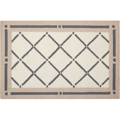 Northampton Hand-Woven Ivory/Gray Area Rug Rug Size: Rectangle 1'9