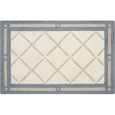 Northampton Hand-Woven Blue/Beige Area Rug Rug Size: Rectangle 26 x 310